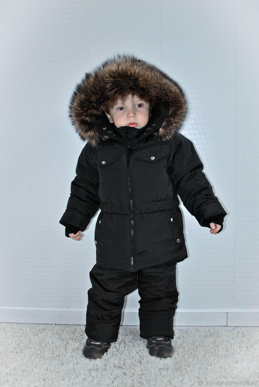 Очень теплый легкий и стильный зимний комплект: куртка + полукомбинезон от Марины Делавье