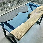 Столы ручной работы. Ярмарка Мастеров - ручная работа СТОЛ из слэба дуба, бетон, эпоксидная смола. Handmade.