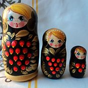 Русский стиль handmade. Livemaster - original item Matryoshka 3 local. Handmade.