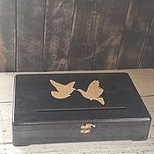 Свадебный салон handmade. Livemaster - original item Gifts: A wedding box for collecting money a chest for envelopes. Handmade.