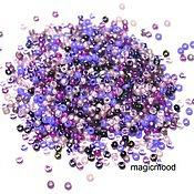Материалы для творчества handmade. Livemaster - original item 10 grams 15/0 Miyuki MIX 01 lilac Japanese seed beads Miyuki round mix. Handmade.
