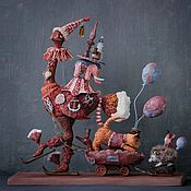 handmade. Livemaster - original item Ostrich-Markitant. Figurine. Handmade.
