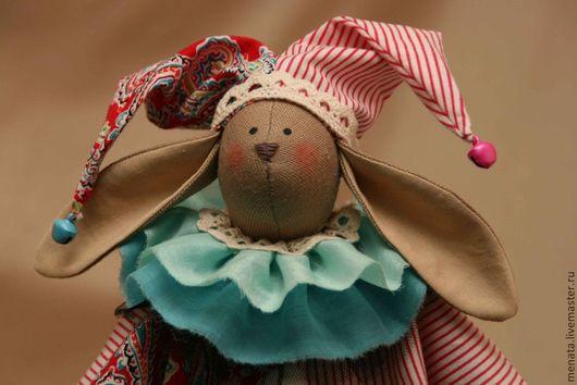 Куклы Тильды ручной работы. Ярмарка Мастеров - ручная работа. Купить Заяц клоун. Handmade. Заяц, игрушка ручной работы