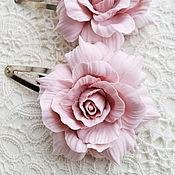 Украшения ручной работы. Ярмарка Мастеров - ручная работа Зажимы Пепел розы. Handmade.