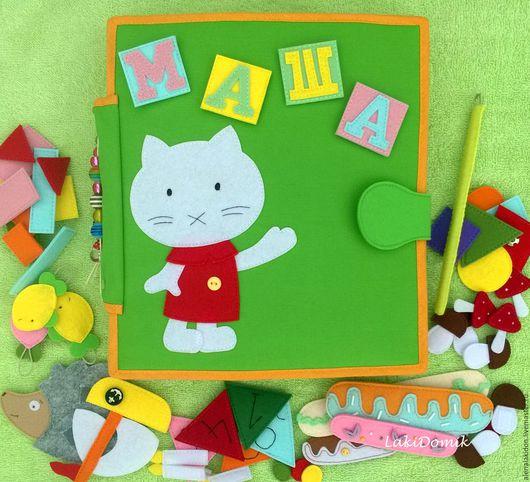 Развивающие игрушки ручной работы. Ярмарка Мастеров - ручная работа. Купить Развивающая книга из ткани 1. Handmade. Развивающая игрушка