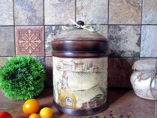 """Кухня ручной работы. Ярмарка Мастеров - ручная работа. Купить Большой  туес """"Тоскана"""" (липа). Handmade. Комбинированный, бочонок"""