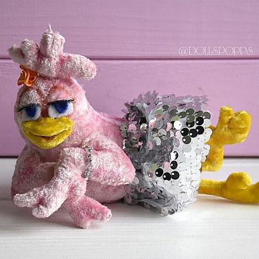 Куклы и игрушки ручной работы. Ярмарка Мастеров - ручная работа Интерьерная игрушка Розовая курочка. Handmade.