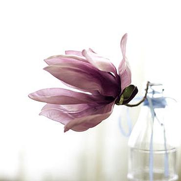 Цветы и флористика ручной работы. Ярмарка Мастеров - ручная работа Цветы из шелка Розовая магнолия. Handmade.