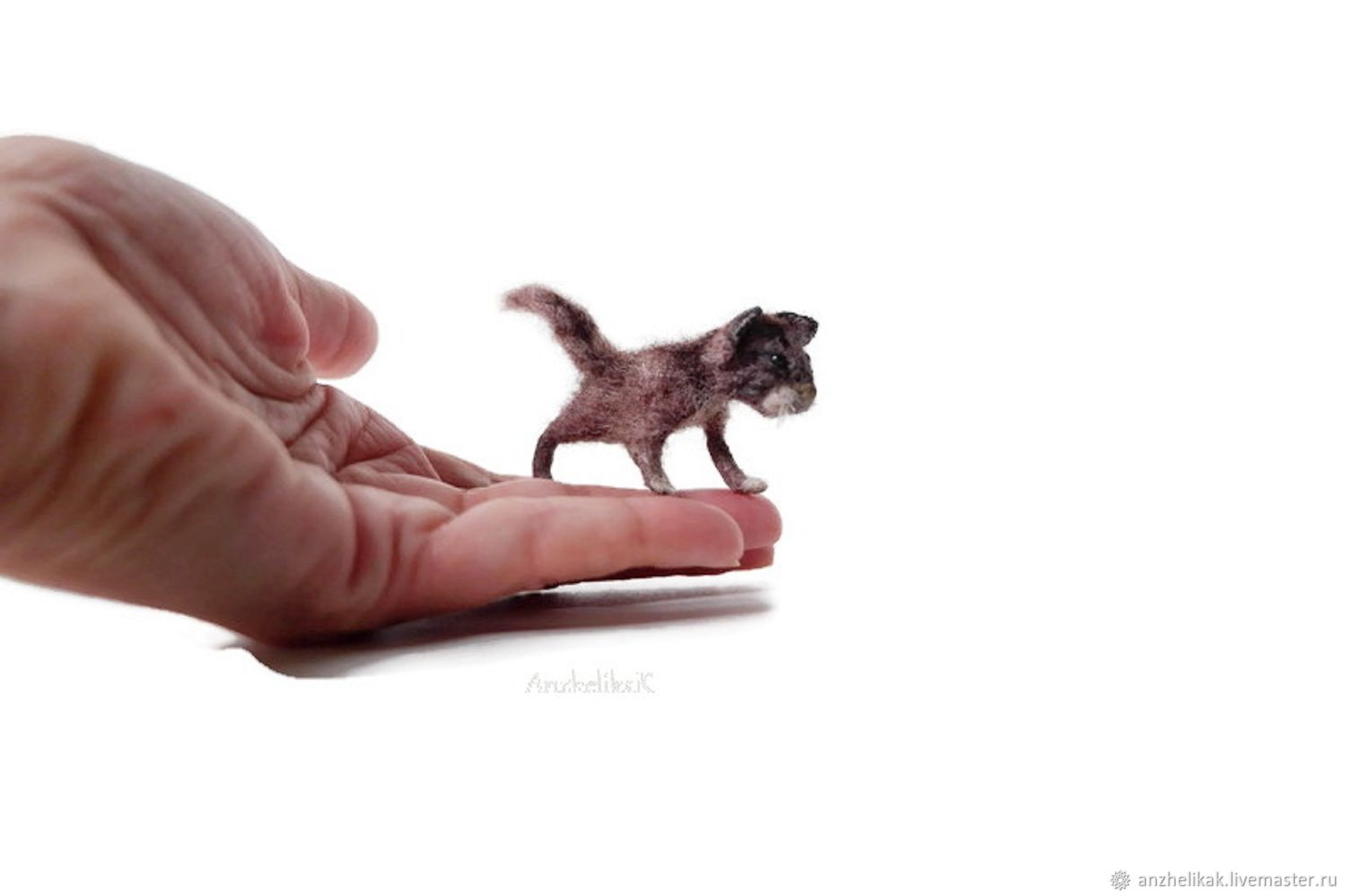 Miniature toys: Brown cat for Dollhouse, Miniature figurines, Rostov-on-Don,  Фото №1
