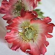 Цветы и флористика ручной работы. Ярмарка Мастеров - ручная работа Три Мака Цветы из шелка. Handmade.