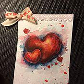 """Открытки ручной работы. Ярмарка Мастеров - ручная работа Авторская открытка ручной работы """"Сердца"""". Handmade."""