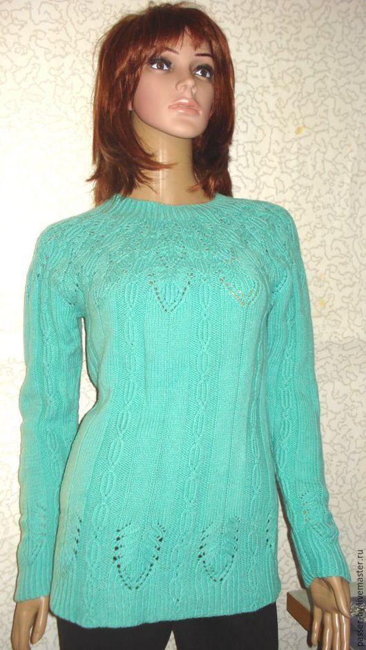 Кофты и свитера ручной работы. Ярмарка Мастеров - ручная работа. Купить свитер женский. Handmade. Салатовый, свитер вязаный