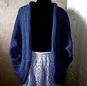 Одежда ручной работы. Ярмарка Мастеров - ручная работа Накидка кардиган вязаный. Handmade.