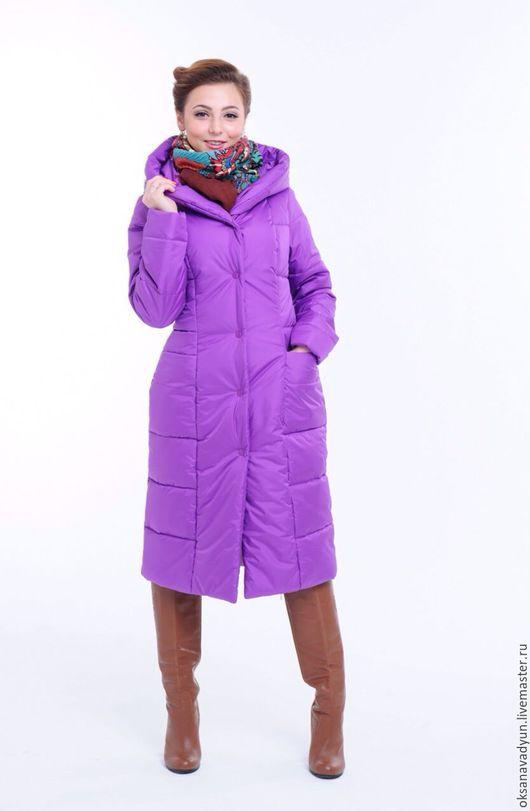 Верхняя одежда ручной работы. Ярмарка Мастеров - ручная работа. Купить Пуховое пальто Lavender. Handmade. Сиреневый, пальто, альполюкс