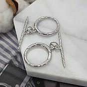 Материалы для творчества handmade. Livemaster - original item Toggle lock ring 19 mm rhodium plated (5177). Handmade.