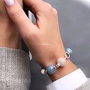 handmade. Livemaster - original item Blue tenderness bracelet stylish beautiful casual. Handmade.