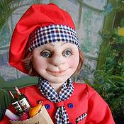 Куклы и игрушки handmade. Livemaster - original item CHEF textile doll. Handmade.