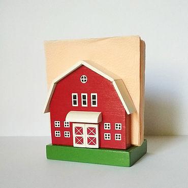 Для дома и интерьера ручной работы. Ярмарка Мастеров - ручная работа Салфетница/ домик. Handmade.