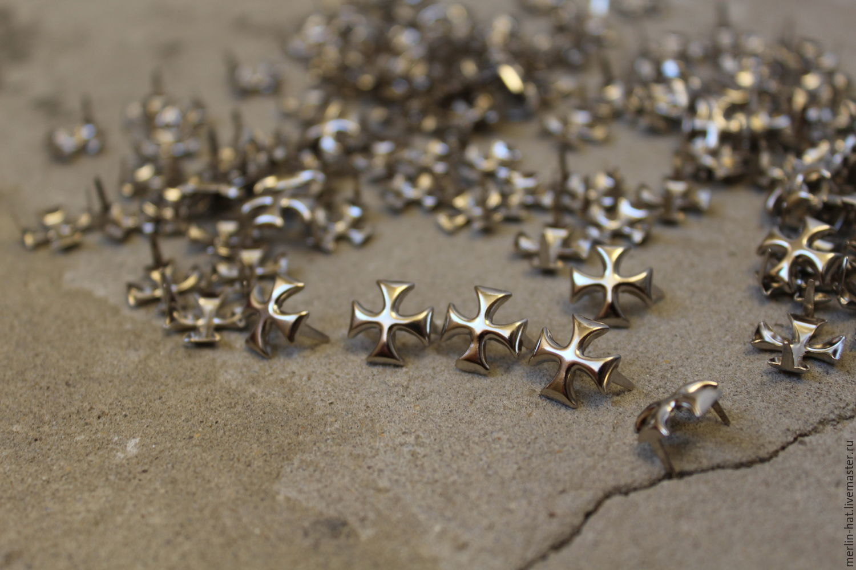Rivets Crosses (holniteny) 10h10 mm 10pcs, Sewing accessories, Tambov,  Фото №1