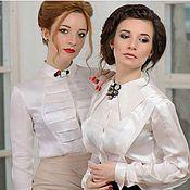 Одежда ручной работы. Ярмарка Мастеров - ручная работа Белая блузка. Handmade.