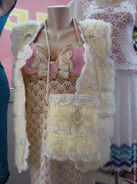 """Жилеты ручной работы. Ярмарка Мастеров - ручная работа. Купить очень нежный,а так же очень тёплый жилет """"   angelic lace"""". Handmade."""