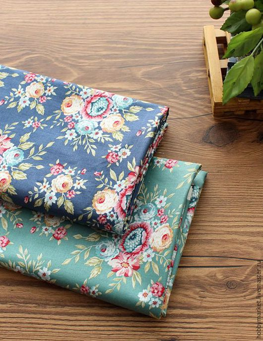Шитье ручной работы. Ярмарка Мастеров - ручная работа. Купить Ткань хлопок Цветочный принт 11 см. Handmade.