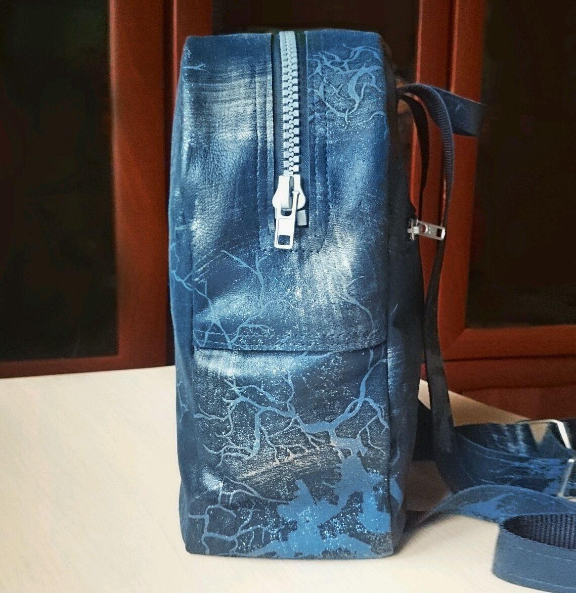 a155a667ca54 Семейная мастерская Рюкзаки ручной работы. Заказать Блестящий кожаный  рюкзак ручной работы