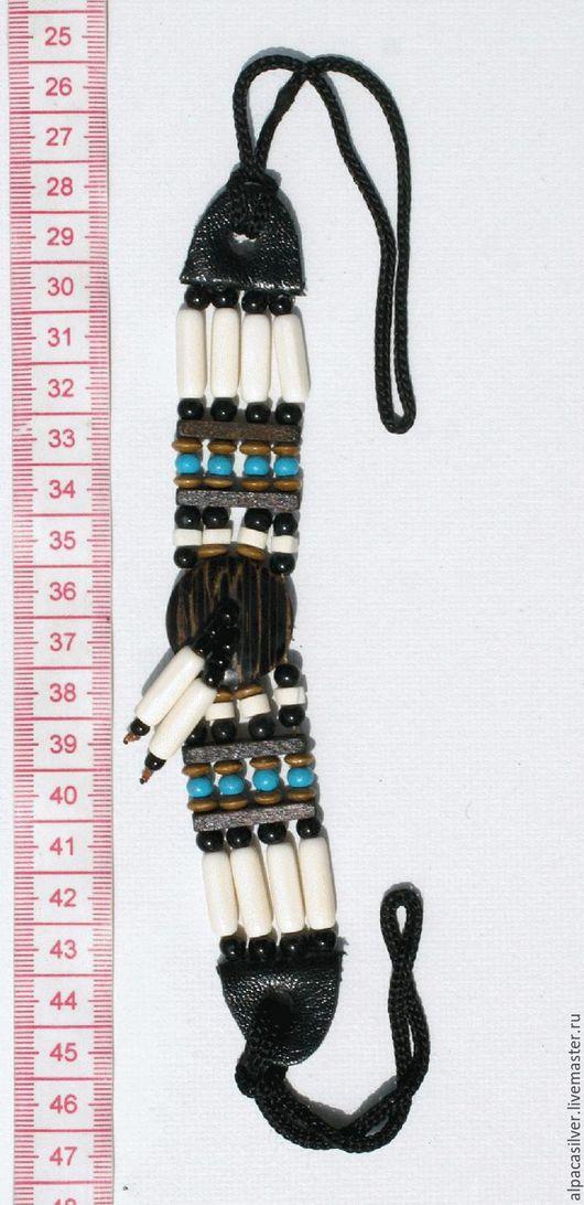 Браслеты ручной работы. Ярмарка Мастеров - ручная работа. Купить Индейский браслет из кости, дерева, керамики, пластика. Handmade.