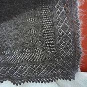 Аксессуары ручной работы. Ярмарка Мастеров - ручная работа 84, Шаль из козьего пуха  Зима   вязаный, теплый платок. Handmade.