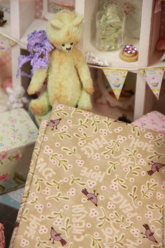 Куклы и игрушки ручной работы. Ярмарка Мастеров - ручная работа. Купить Ткань хлопок №171 с мелким рисунком. Handmade. Комбинированный