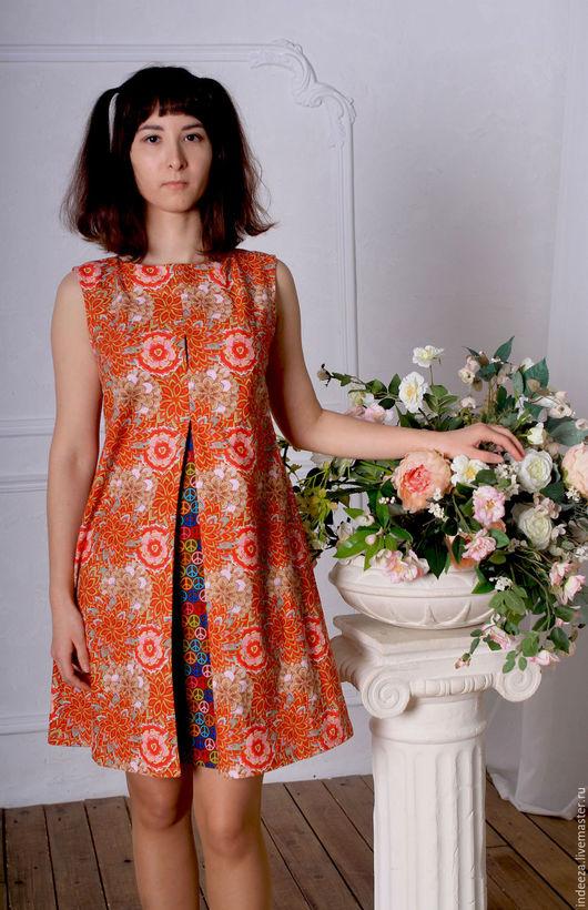 """Платья ручной работы. Ярмарка Мастеров - ручная работа. Купить Платье """"Цветочный чай"""". Handmade. Комбинированный, летняя одежда"""