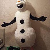 Народная кукла ручной работы. Ярмарка Мастеров - ручная работа Народная кукла: ОЛАФ.снеговик. Handmade.