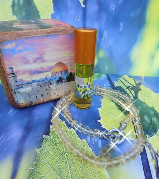 Удобный флакон - роллер 7 мл Красивейшее колье с цитрином от мастера http://www.livemaster.ru/filippovazhenya