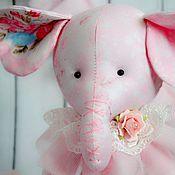 Куклы и игрушки ручной работы. Ярмарка Мастеров - ручная работа Розовый слоник Зефирка. Handmade.
