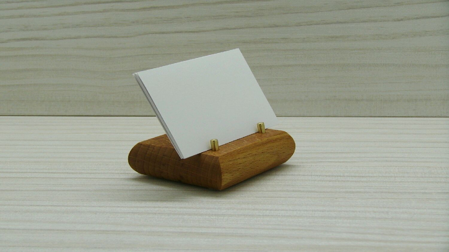 Business card holder desktop. A stand for your smartphone. Beech ...