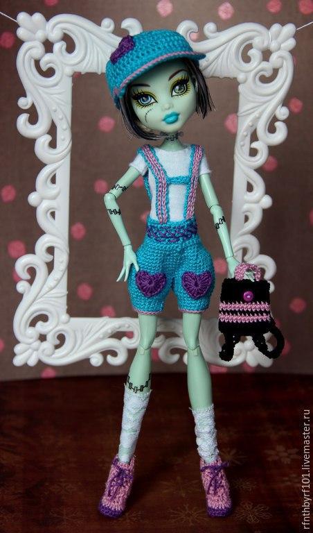Одежда для кукол ручной работы. Ярмарка Мастеров - ручная работа. Купить Костюм для МХ. Handmade. Голубой, комплект для куклы, хлопок