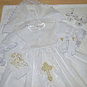Работы для детей, ручной работы. Ярмарка Мастеров - ручная работа Крестильный комплект для девочки (на два года). Handmade.