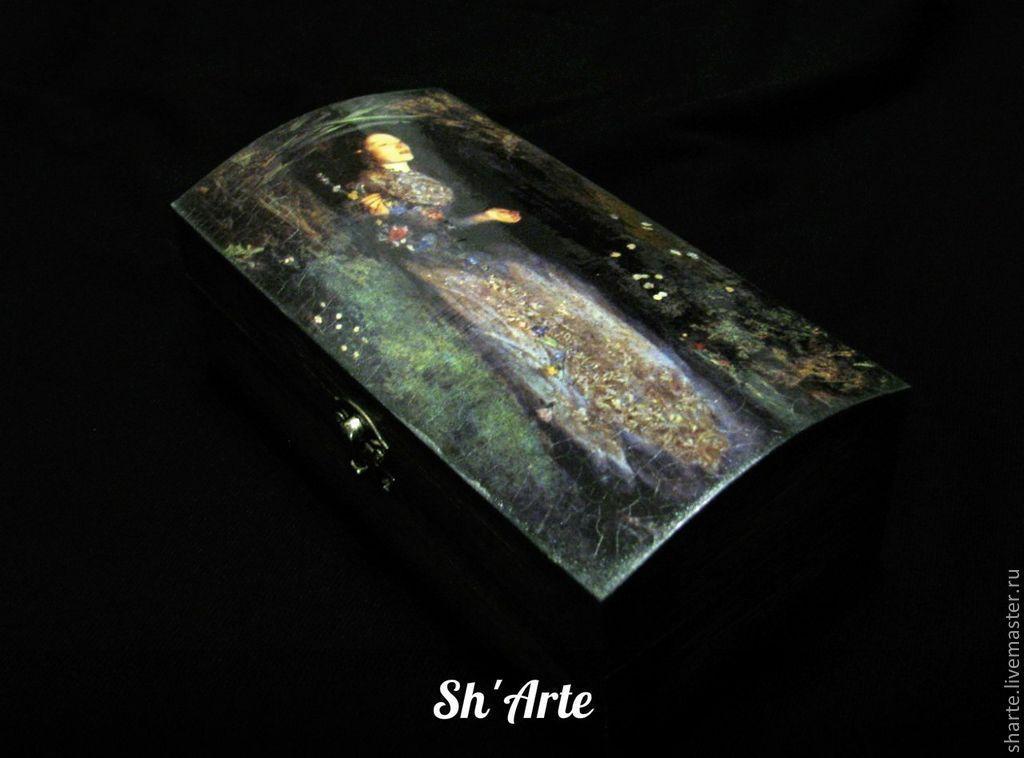 Goth casket coffin Ophelia, Souvenirs, Moscow,  Фото №1
