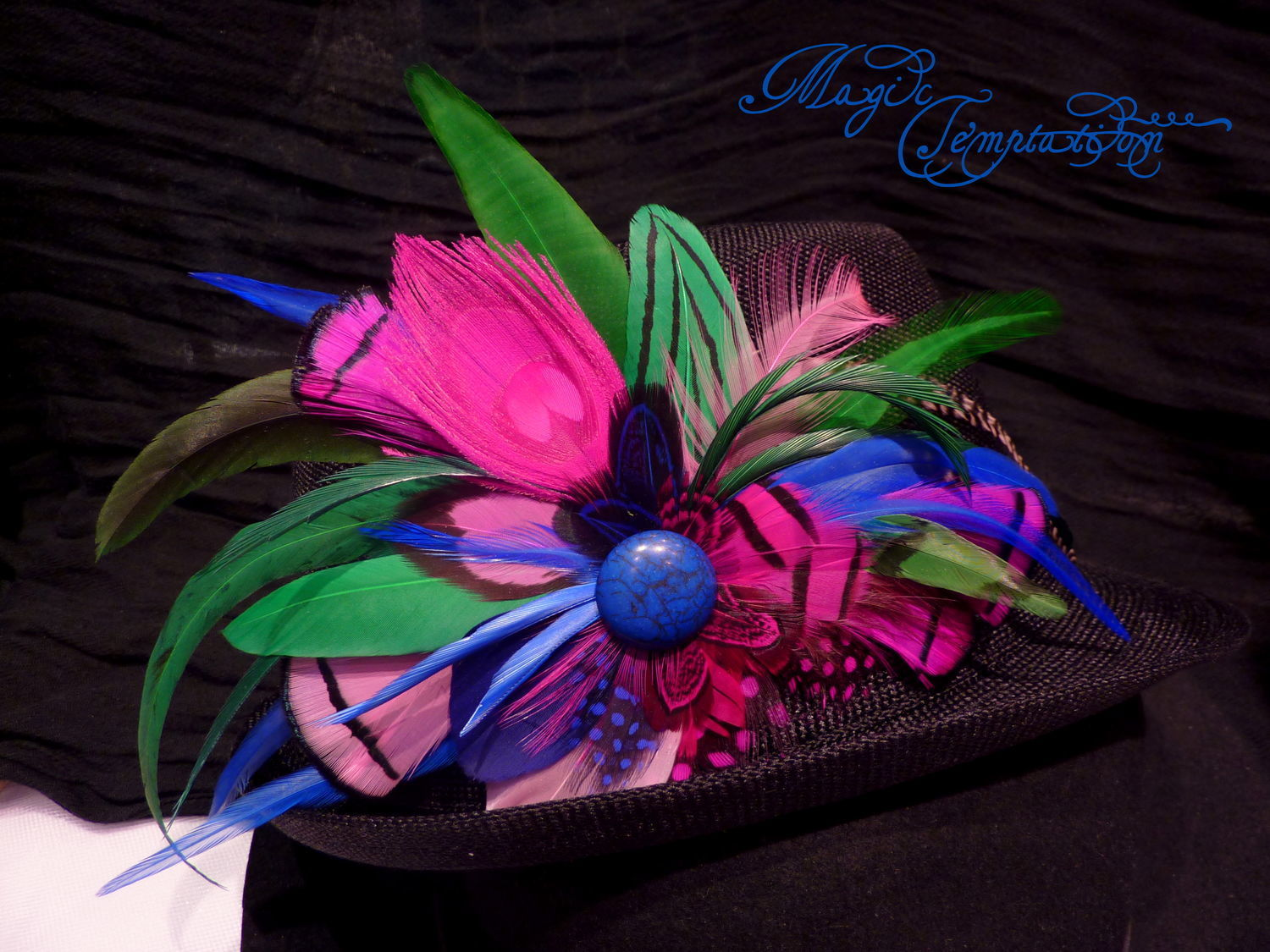 Barrettes handmade. Livemaster - handmade. Buy Brightly colored hair clip brooch with feathers.Boho, india, bright decoration