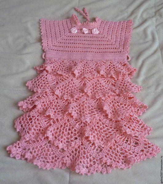 """Одежда для девочек, ручной работы. Ярмарка Мастеров - ручная работа. Купить платье для девочки """"Розовый зефир"""". Handmade. Розовый"""
