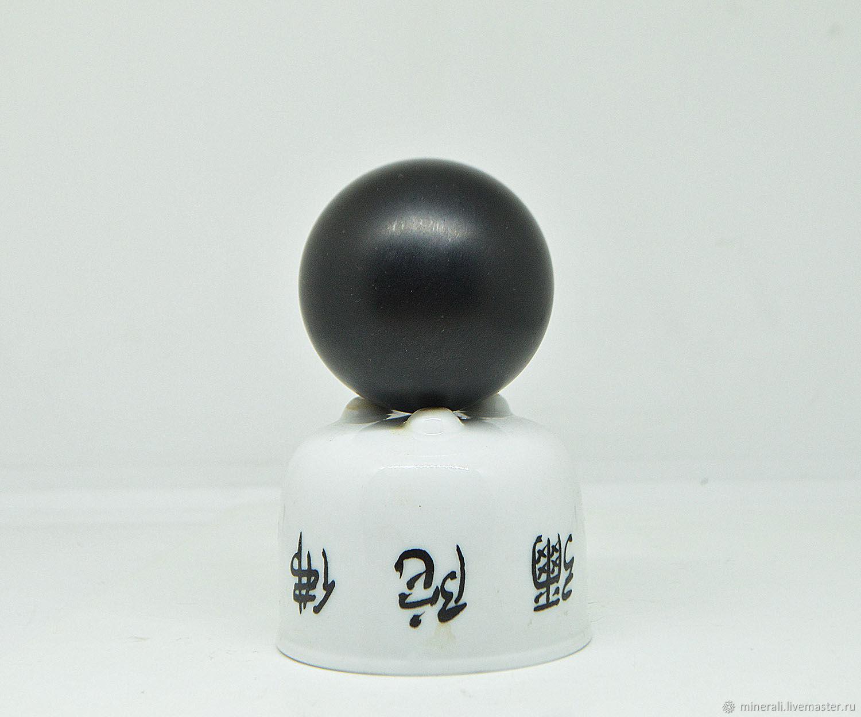 Элементы интерьера ручной работы. Ярмарка Мастеров - ручная работа. Купить Гагат, шар. Handmade. Черный, шар редкий