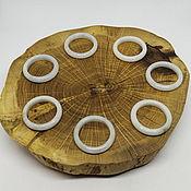 Украшения handmade. Livemaster - original item 19.5 R. Light Jade Ring. Handmade.