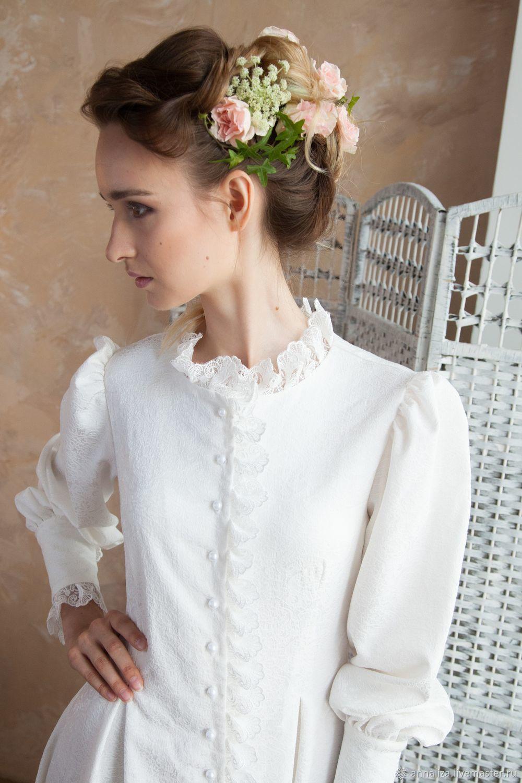 e553fd0265b Одежда и аксессуары ручной работы. Заказать Свадебное венчальное платье со  шлейфом