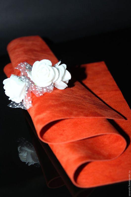 Шитье ручной работы. Ярмарка Мастеров - ручная работа. Купить Замша искусственная двухсторонняя. Handmade. Оранжевый, тедди, ткань для кукол