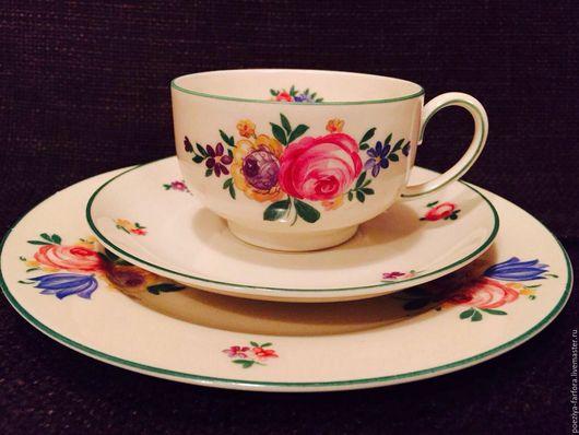 Винтажная посуда. Ярмарка Мастеров - ручная работа. Купить Чайное трио Розенталь. Handmade. Комбинированный, антиквариат