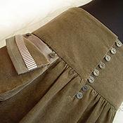 Одежда ручной работы. Ярмарка Мастеров - ручная работа Вельветовая юбка многоярусная. Handmade.