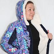 "Одежда handmade. Livemaster - original item Jackets from sheep`s wool under the ""Pavloposad shawl"". Handmade."