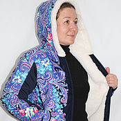 "Одежда handmade. Livemaster - original item Jackets from sheep`s wool under the ""Pavloposad shawl"". Handmade."