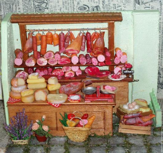 Кукольный дом ручной работы. Ярмарка Мастеров - ручная работа. Купить Мясная лавка 7. Handmade. Кукольная миниатюра