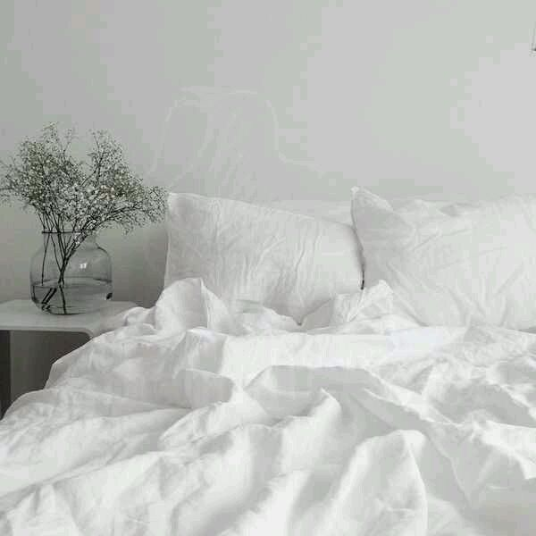 White linen from flax 'Marshmallow' - Luxury linen, Bedding sets, Moscow,  Фото №1